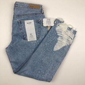 NWT GRLFRND Helena High Waist Straight Jeans